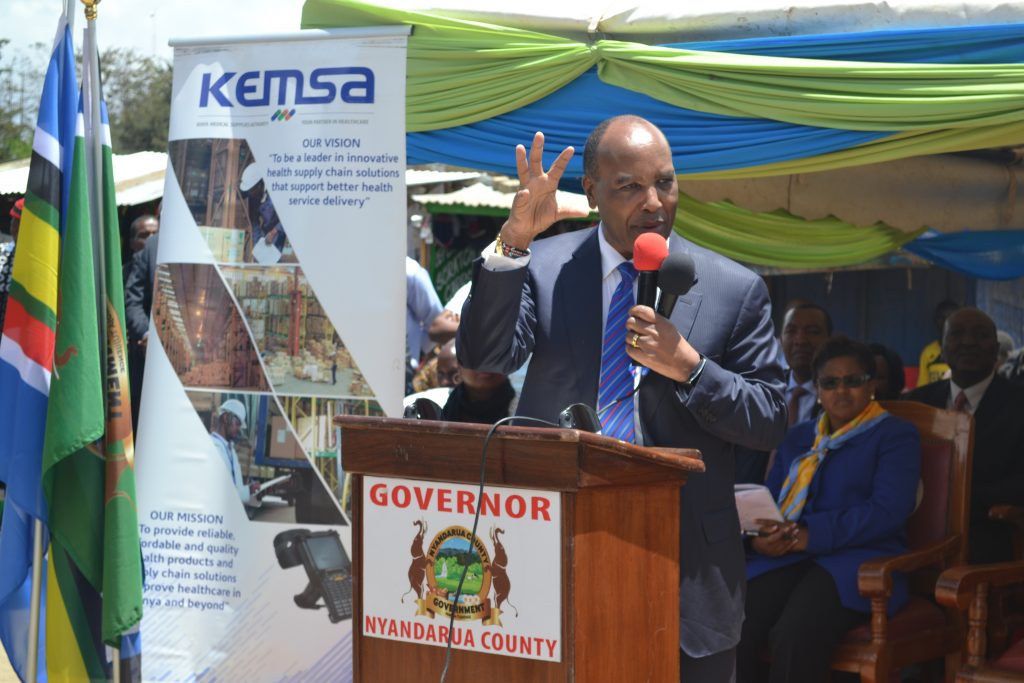 Nyandarua Governor Salutes KEMSA for Timely Delivery