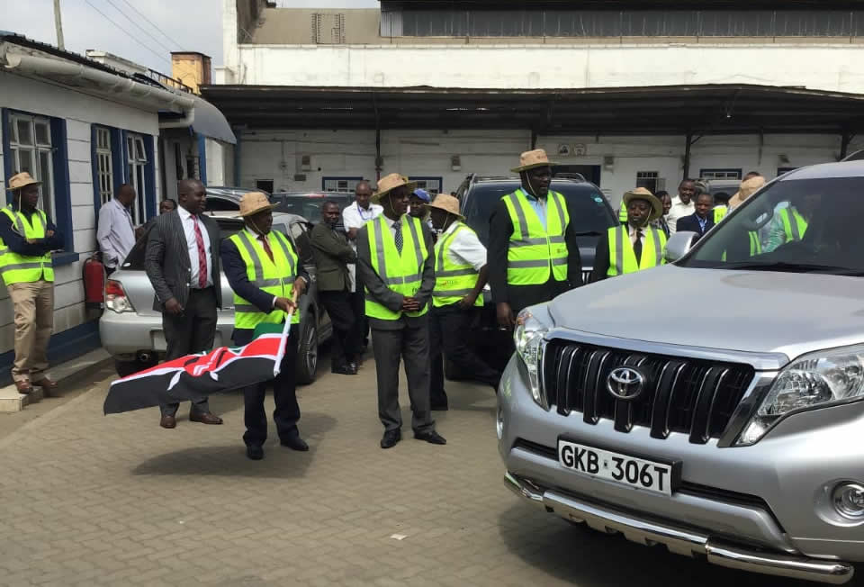 KEMSA Flags off Ten Vehicles for use in HIV Surveys